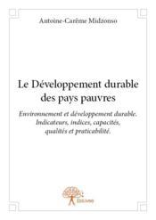 Le développement durable des pays pauvres - Couverture - Format classique