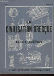 La Civilisation Grecque - I - La Vie Publique - Couverture - Format classique