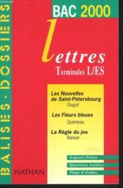 Balises Dossiers Lettres 2000 Terminale L Et Terminale Es - Couverture - Format classique