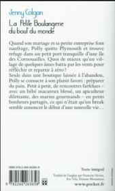 La petite boulangerie du bout du monde - 4ème de couverture - Format classique