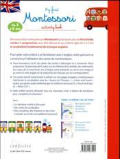 My first Montessori activity book - 4ème de couverture - Format classique