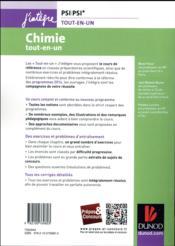 Chimie tout-en-un PSI-PSI* (3e édition) - 4ème de couverture - Format classique