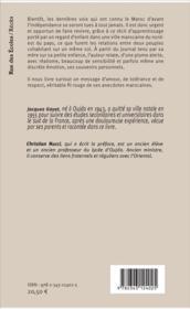 Oujda ou une enfance marocaine ; journal de ma mère - 4ème de couverture - Format classique