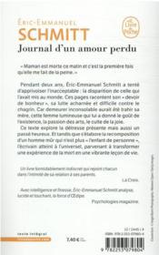 Journal d'un amour perdu - 4ème de couverture - Format classique