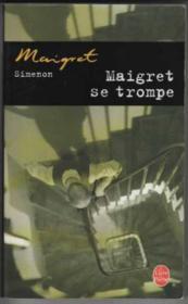 Maigret se trompe - Couverture - Format classique