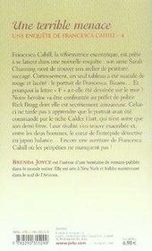 Une enquête de Francesca Cahill t.4 ; une terrible menace - 4ème de couverture - Format classique