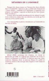 Memoires De Candomble - 4ème de couverture - Format classique