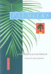 Palmiers D'Interieur & D'Exterieur - Intérieur - Format classique