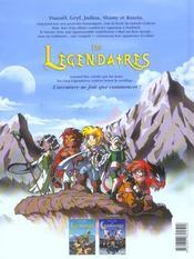 Les Légendaires T.1 ; la pierre de Jovénia - 4ème de couverture - Format classique
