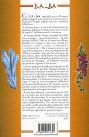 L'homéopathie - 4ème de couverture - Format classique