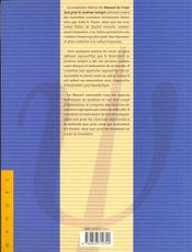 Manuel de cotation du rorschach - 4ème de couverture - Format classique