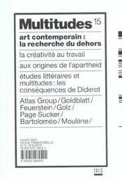 Revue Multitudes T.15 ; Art Contemporain: La Recherche Du Dehors - Intérieur - Format classique