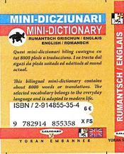 Mini dico rumantsch grischun-englais / english-romansch - 4ème de couverture - Format classique