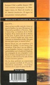 Nebulosite croissante en fin de journee - 4ème de couverture - Format classique