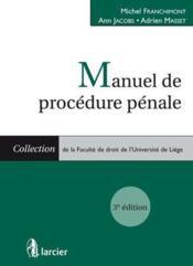 Manuel de procédure pénale (3e édition) - Couverture - Format classique