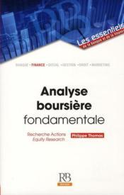 Analyse boursière fondamentale ; recherche action ; equity research - Couverture - Format classique