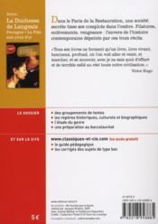 La duchesse de Langeais, Ferragus, la fille aux yeux d'or, de Balzac - 4ème de couverture - Format classique