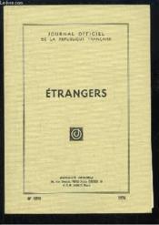 Etrangers. - Couverture - Format classique