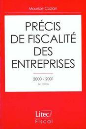 Precis de fiscalite des entreprises 2000-2001 ; 24e edition - Intérieur - Format classique