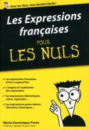 Les expressions françaises pour les nuls - Couverture - Format classique
