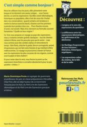 Les expressions françaises pour les nuls - 4ème de couverture - Format classique