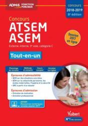 Concours ATSEM, ASEM ; externe, interne, 3e voie, catégorie C ; tout-en-un (concours 2018/2019) - Couverture - Format classique