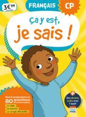 Ça y est, je sais ; français ; CP (édition 2019) - Couverture - Format classique