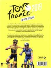 Tour de France ; le livre officiel (édition 2019) - 4ème de couverture - Format classique