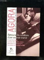 Revue Agora Debats Jeunesses ; Illettrisme ; Les Conditions D'Une Seconde Chance - Couverture - Format classique