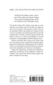 Voyage de paris à java - 4ème de couverture - Format classique