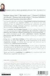 Pourquoi Les Femmes Des Riches Sont Belles Programmation Genetique Et Competition Sexuelle. - 4ème de couverture - Format classique