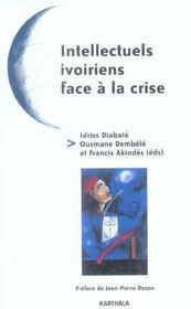 Intellectuels ivoiriens face a la crise - Intérieur - Format classique