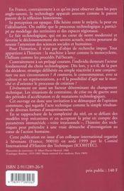 Technologie Au Risque De L Histoire - 4ème de couverture - Format classique