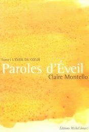 Paroles D'Eveil - L'Eveil Du Coeur T1 - Intérieur - Format classique