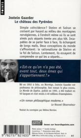 Le château des Pyrénées - 4ème de couverture - Format classique