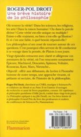 Une brève histoire de la philosophie - 4ème de couverture - Format classique