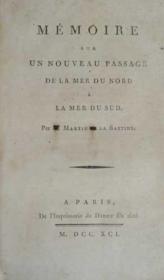 Mémoire sur un nouveau passage de la mer du Nord à la mer du Sud. - Couverture - Format classique