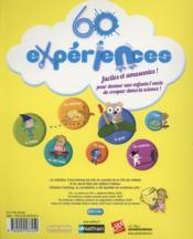 60 expériences faciles et amusantes - 4ème de couverture - Format classique