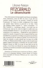 Fitzgerald, le désenchanté - 4ème de couverture - Format classique