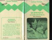 Quiproquo A Saramanca - Couverture - Format classique