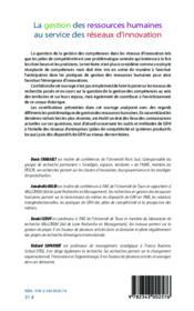 Gestion des ressources humaines au service des réseaux d'innovation - Couverture - Format classique