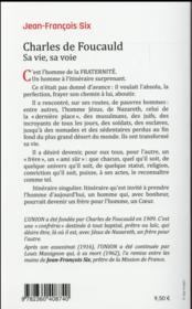 Charles de Foucauld ; sa vie, sa voie - 4ème de couverture - Format classique