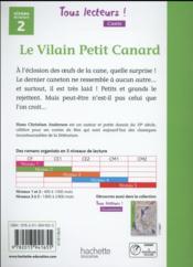 TOUS LECTEURS ! ; le vilain petit canard ; niveau 2 ; livre de l'élève (édition 2016) - 4ème de couverture - Format classique
