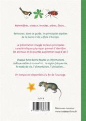 Les trésors de la nature ; guide de la faune et de la flore de nos régions - 4ème de couverture - Format classique
