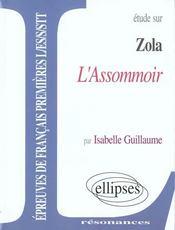Etude Sur Zola L'Assommoir Epreuves De Francais Premieres L/Es/S/Stt - Intérieur - Format classique