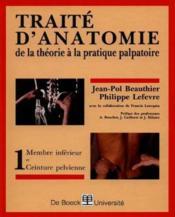 Traite d'anatomie de la théorie a la pratique palpatoire - Couverture - Format classique