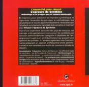 Ess.pr reussir epreuve synthese (l') - 4ème de couverture - Format classique