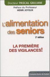 L'alimentation des seniors (2e édition) - Couverture - Format classique