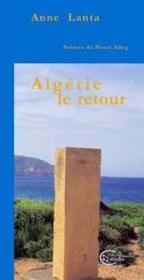 Algerie Le Retour - Couverture - Format classique