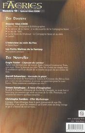 Faeries 19 special glen cook - 4ème de couverture - Format classique